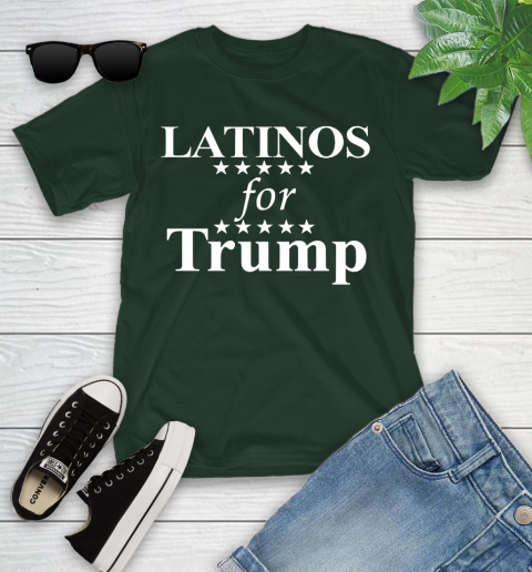 Latinos For Trump Youth T-Shirt 5
