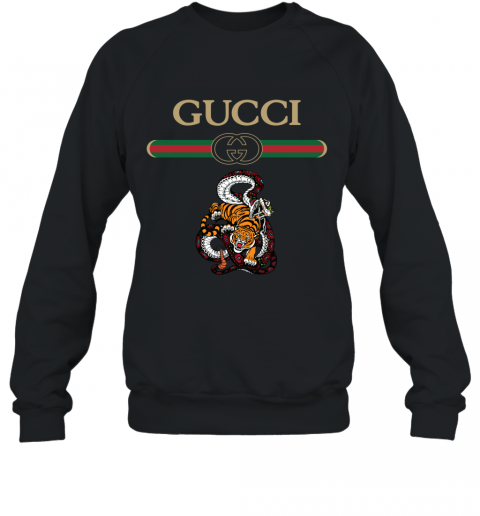 2020 Gucci Logo Fighting Snake Vs Tiger Sweatshirt