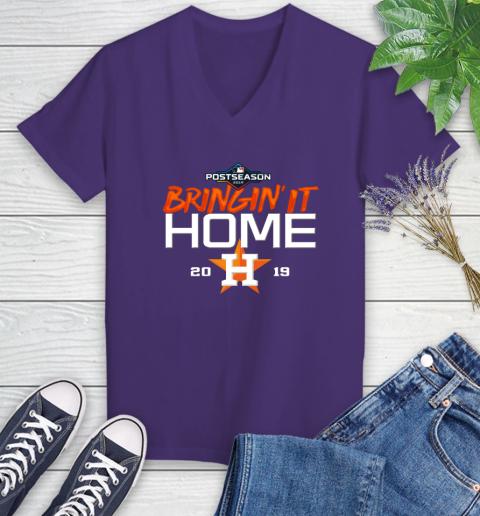 Bringing It Home Astros Women's V-Neck T-Shirt 3