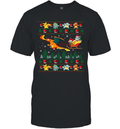 Christmas Pokemon Ugly T-Shirt
