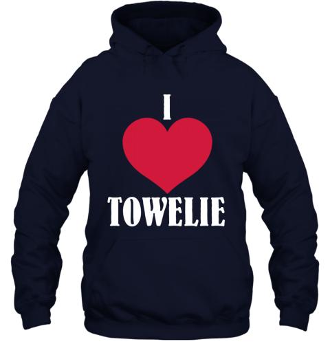 I LOVE TOWELIE RED HEART Hoodie
