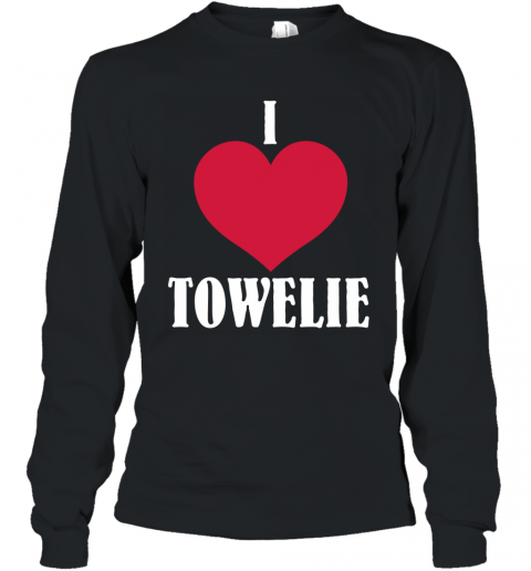 I LOVE TOWELIE RED HEART Long Sleeve T-Shirt