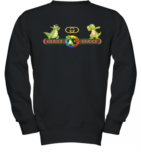 Gucci Logo Dinosaur Dabbing Dance Youth Sweatshirt