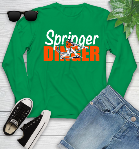 Houston Springer Dinger Fan Shirt Youth Long Sleeve 18