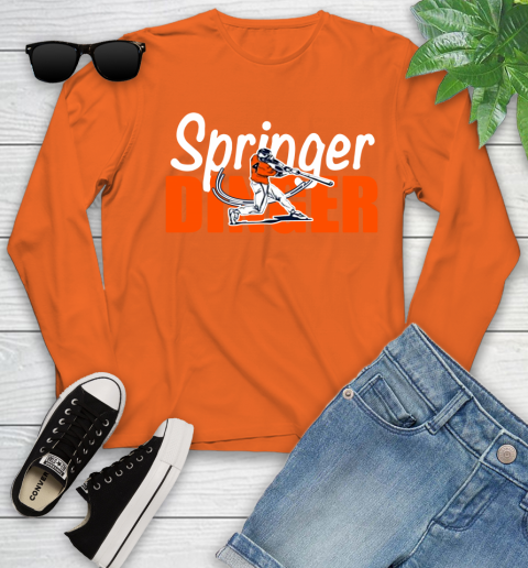 Houston Springer Dinger Fan Shirt Youth Long Sleeve 14