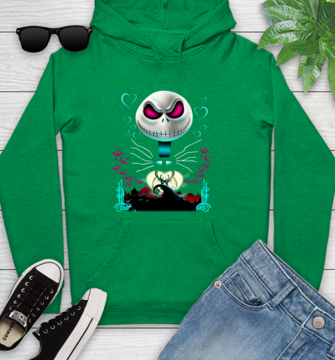 NBA Milwaukee Bucks Jack Skellington Sally The Nightmare Before Christmas Basketball Sports_000 Youth Hoodie 9