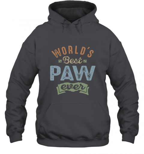 World S Best Paw T Shirt Hooded