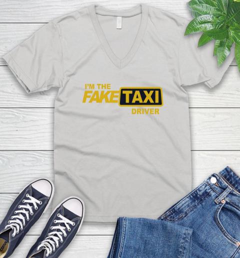 I am the Fake taxi driver V-Neck T-Shirt 1