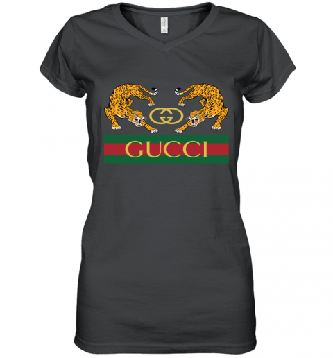 Gucci Jaguar Gucci Polo Women's V-Neck T-Shirt