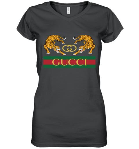 Gucci Jaguar Gucci Polo Women's V-Neck T-Shirt