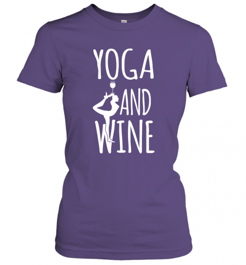 Yoga Meditation Namasta Funny Yoga and Wine Women Tee