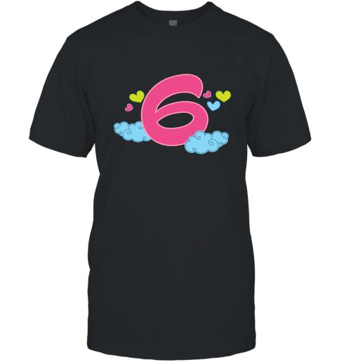 6th Birthday Gift Shirt Cute 6 Year Old Kids T-Shirt