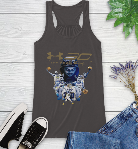 Stephen Curry I Can Do All Things Signature Racerback Tank 11