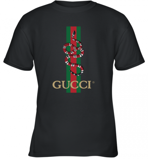 Gucci Logo Snake Polo Youth T-Shirt