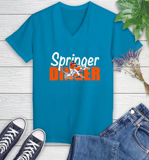 Houston Springer Dinger Fan Shirt Women's V-Neck T-Shirt 7