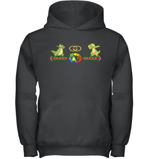 Gucci Logo Dinosaur Dabbing Dance Youth Hoodie
