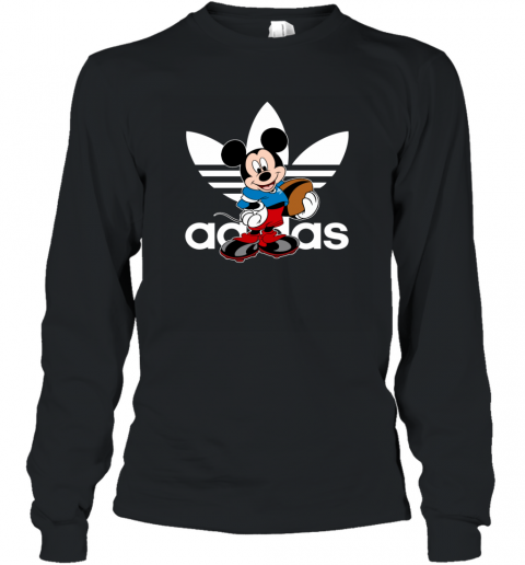Adidas Logo  Rugby Mickey Mouse Disney Sports Long Sleeve T-Shirt