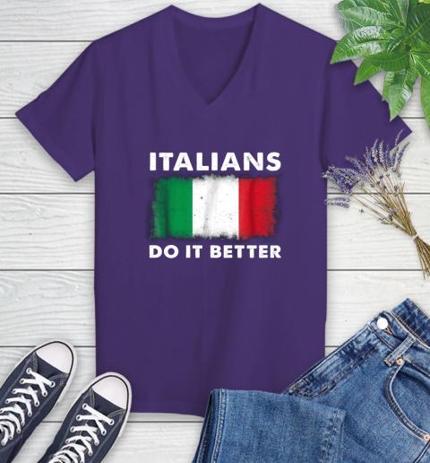 Italians Do It Better Women's V-Neck T-Shirt 3