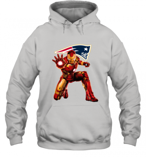 NFL Iron Man Marvel Avengers Endgame Football Sports New England Patriots Hoodie