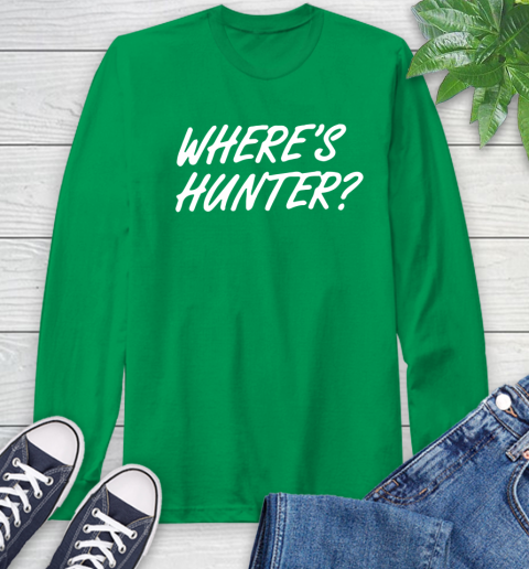 Where Is Hunter Long Sleeve T-Shirt 8