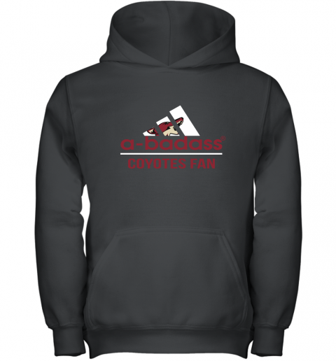 NHL A Badass Arizona Coyotes Fan Adidas Hockey Sports Youth Hoodie