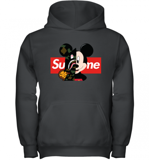 Mickey Mouse Supreme Bape Youth Hoodie