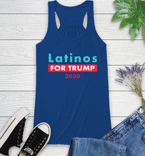 Latinos Trump 2020 Racerback Tank 9