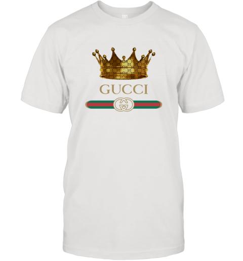 King Gold Gucci Logo T-Shirt