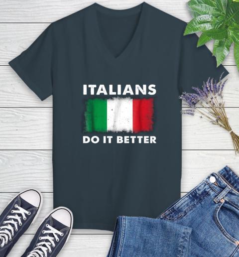 Italians Do It Better Women's V-Neck T-Shirt 8