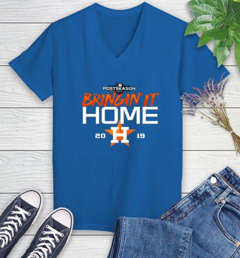 Bringing It Home Astros Women's V-Neck T-Shirt 10