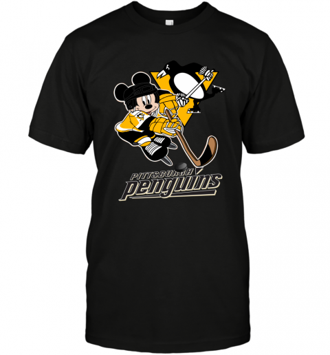 NHL Pittsburgh Penguins Mickey Mouse Disney Hockey T Shirt T-Shirt 1