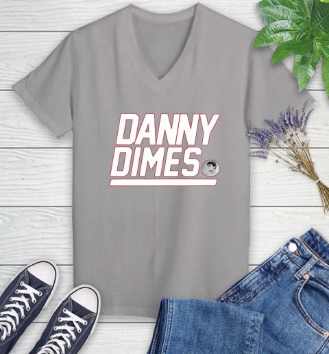 Danny Dimes Ny Giants Women's V-Neck T-Shirt 4