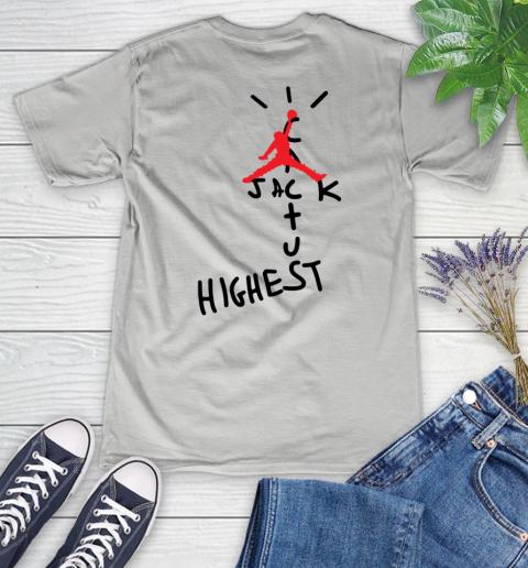 Travis Scott Cactus Jack Jordan Highest Women's V-Neck T-Shirt 10