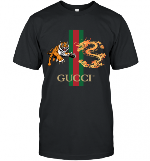 Gucci Tiger x Goden Dragon Design T-Shirt