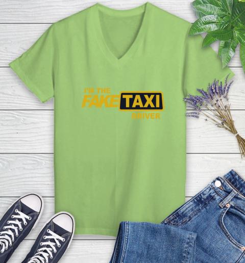 I am the Fake taxi driver Women's V-Neck T-Shirt 11