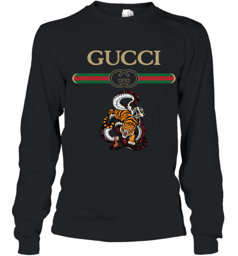 2020 Gucci Logo Fighting Snake Vs Tiger Youth Long Sleeve T-Shirt