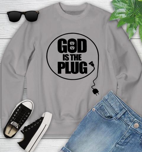 God is the plug Youth Sweatshirt 2