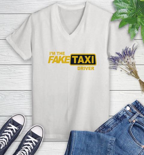 I am the Fake taxi driver Women's V-Neck T-Shirt 1