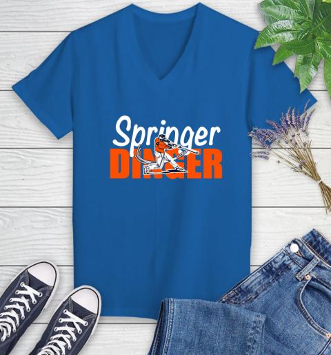Houston Springer Dinger Fan Shirt Women's V-Neck T-Shirt 10