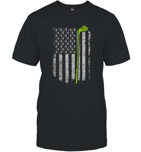 American Flag Golf Gift Funny Golf Apparel Gift For Men T-Shirt