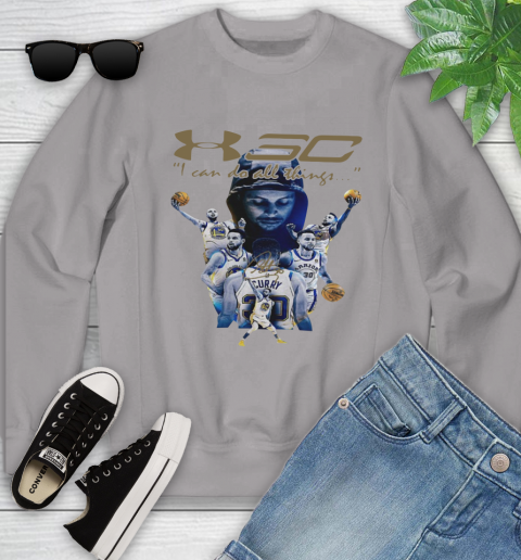Stephen Curry I Can Do All Things Signature Youth Sweatshirt 3