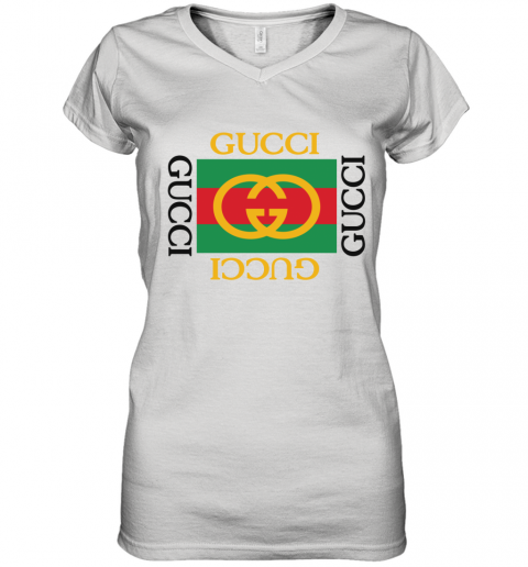 Gucci Logo Limited Edition Women's V-Neck T-Shirt