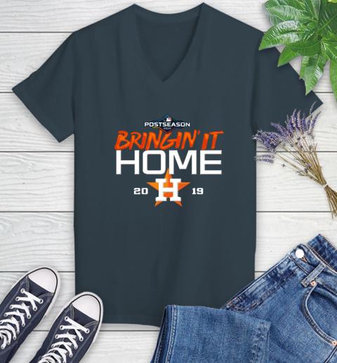 Bringing It Home Astros Women's V-Neck T-Shirt 8