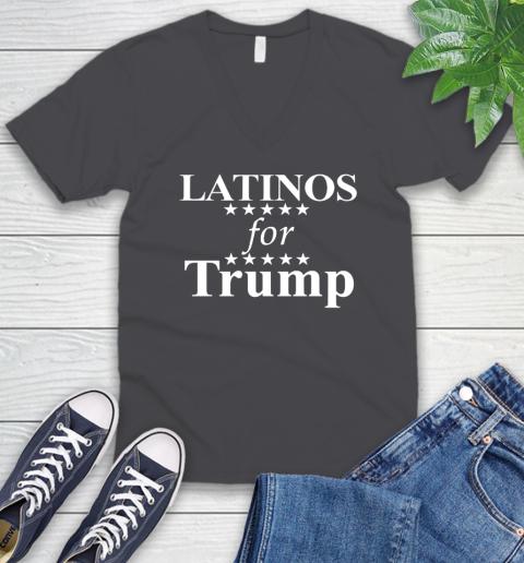Latinos For Trump V-Neck T-Shirt 4