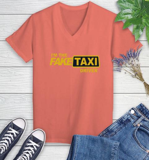I am the Fake taxi driver Women's V-Neck T-Shirt 6