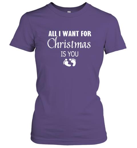 All I Want For Christmas is You Sweatshirt Hoodie Shirt New Mom Pregnant Christmas Gift Women Tee