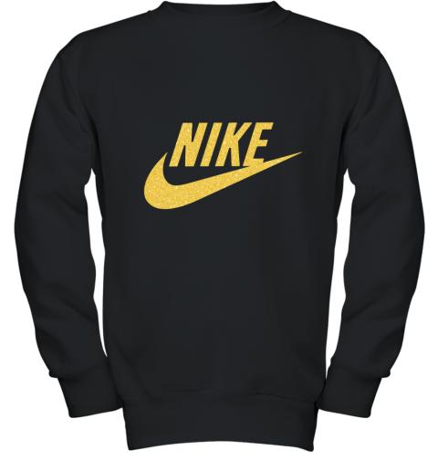 Rose Gold Nike  Logo Youth Sweatshirt