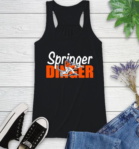 Houston Springer Dinger Fan Shirt Racerback Tank