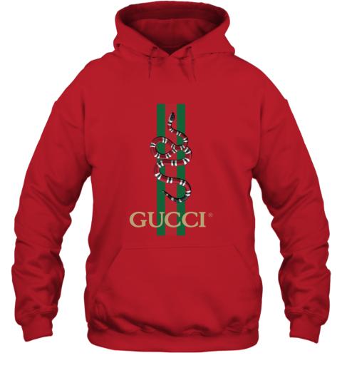 Gucci Logo Snake Polo Hoodie