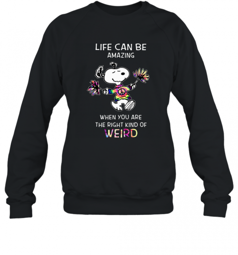 Snoopy Life Can Be Amazing When You Are The Right Sweatshirt